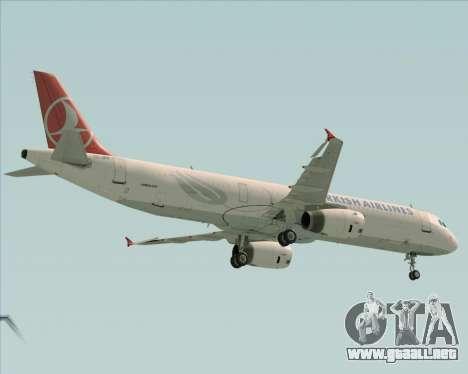 Airbus A321-200 Turkish Airlines para GTA San Andreas vista hacia atrás