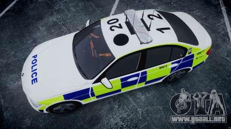 BMW 335i 2013 Central Motorway Police [ELS] para GTA 4 visión correcta