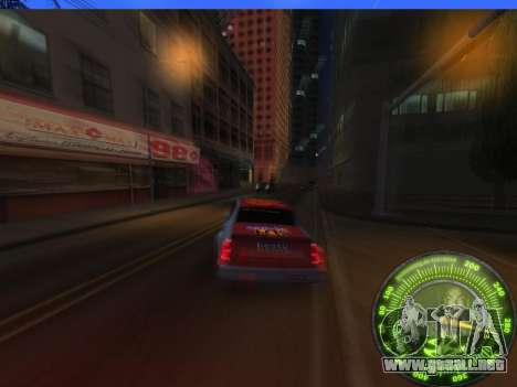 Velocímetro HITMAN para GTA San Andreas quinta pantalla