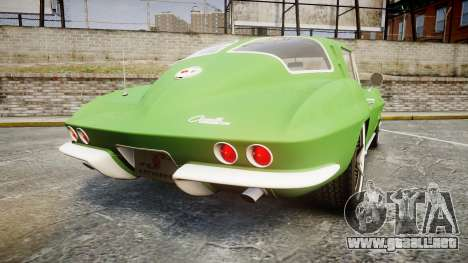 Chevrolet Corvette Stingray 1963 para GTA 4 Vista posterior izquierda