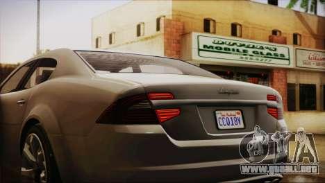 Lampadati Felon (IVF) para GTA San Andreas vista hacia atrás