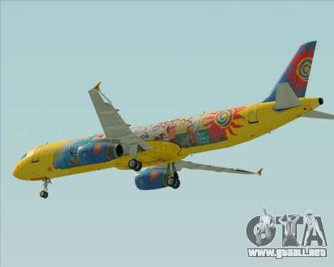 Airbus A321-200 para visión interna GTA San Andreas