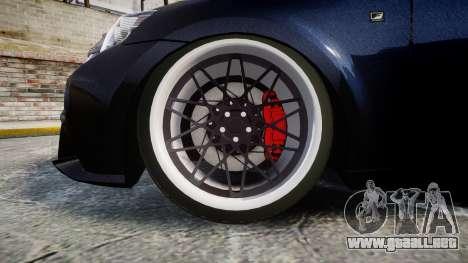 Lexus IS 350 F-Sport para GTA 4 vista hacia atrás