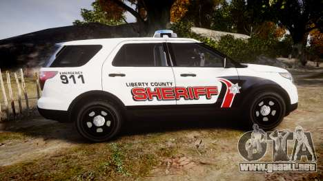 Ford Explorer 2013 LC Sheriff [ELS] para GTA 4 left