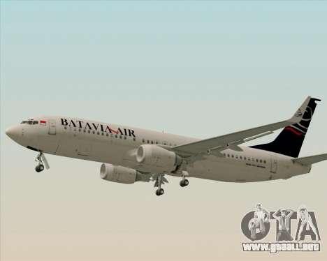 Boeing 737-800 Batavia Air para visión interna GTA San Andreas