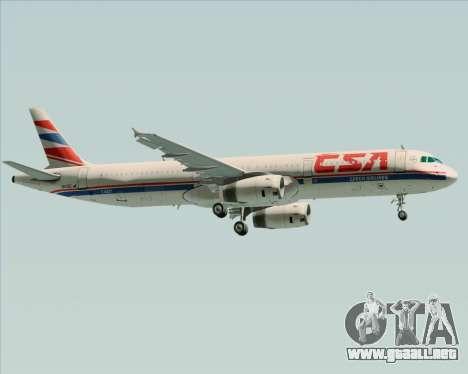 Airbus A321-200 CSA Czech Airlines para vista lateral GTA San Andreas