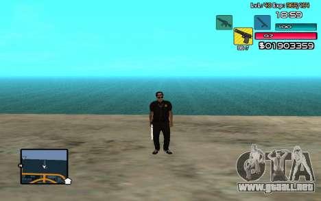 C-HUD by SampHack v.14 para GTA San Andreas segunda pantalla