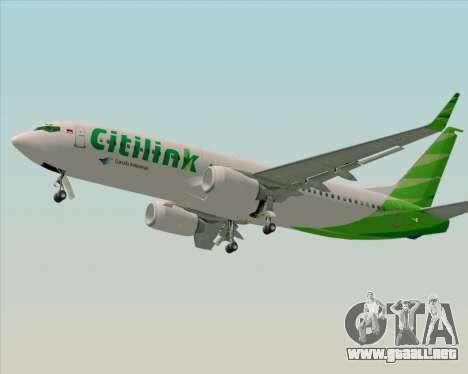 Boeing 737-800 Citilink para la visión correcta GTA San Andreas