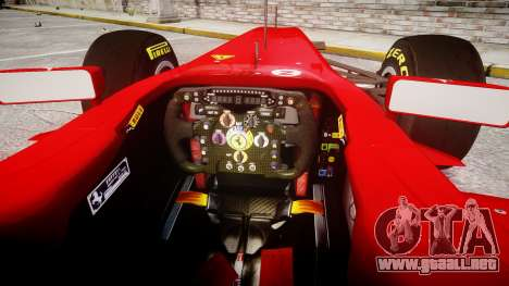 Ferrari 150 Italia Alonso para GTA 4 vista hacia atrás