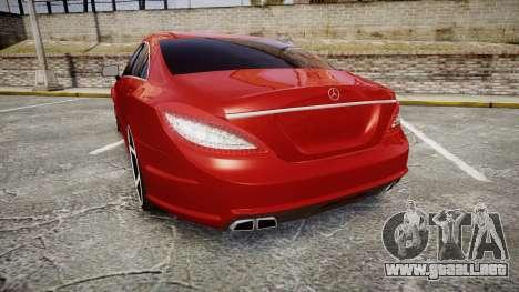 Mercedes-Benz CLS 63 AMG Vossen para GTA 4 Vista posterior izquierda