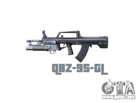 Máquina QBZ-95-GL icon3 para GTA 4 tercera pantalla