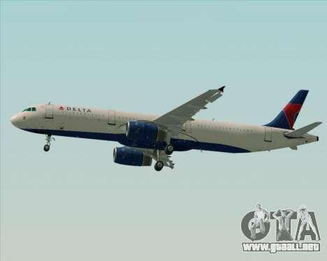 Airbus A321-200 Delta Air Lines para el motor de GTA San Andreas