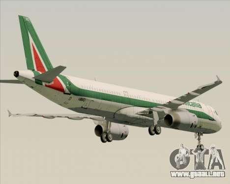 Airbus A321-200 Alitalia para GTA San Andreas vista hacia atrás