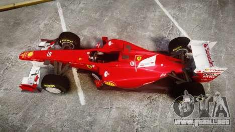 Ferrari 150 Italia Alonso para GTA 4 visión correcta