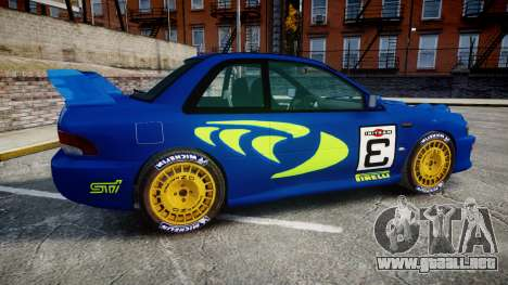 Subaru Impreza WRC 1998 Rally v2.0 Green para GTA 4 left
