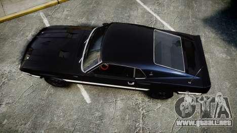 Shelby GT500 428CJ CobraJet 1969 para GTA 4 visión correcta