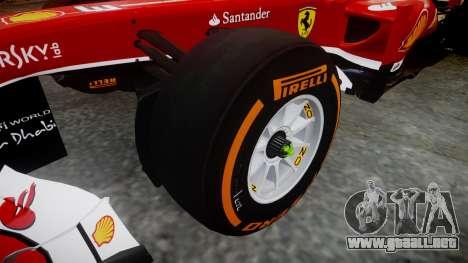Ferrari F138 v2.0 [RIV] Alonso THD para GTA 4 vista hacia atrás