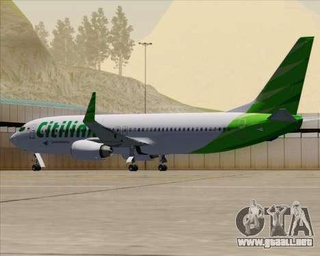 Boeing 737-800 Citilink para vista inferior GTA San Andreas