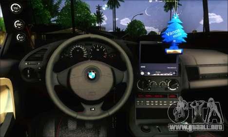 BMW E36 Stanced para GTA San Andreas vista posterior izquierda