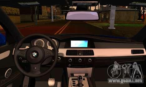 BMW M5 E60 2006 para GTA San Andreas vista posterior izquierda