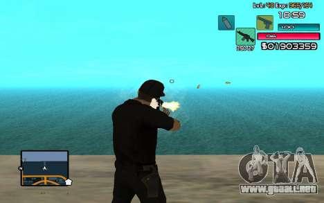 C-HUD by SampHack v.14 para GTA San Andreas tercera pantalla