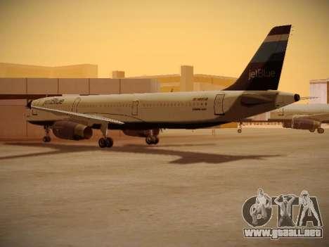 Airbus A321-232 Big Blue Bus para la visión correcta GTA San Andreas