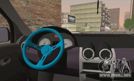 Dacia Logan 1.6 DJ para GTA San Andreas vista posterior izquierda