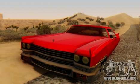 Cadillac Stella II para GTA San Andreas vista hacia atrás