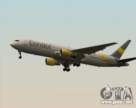 Boeing 767-330ER Condor para GTA San Andreas vista posterior izquierda