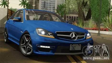Mercedes-Benz C63 AMG Sedan 2012 para visión interna GTA San Andreas