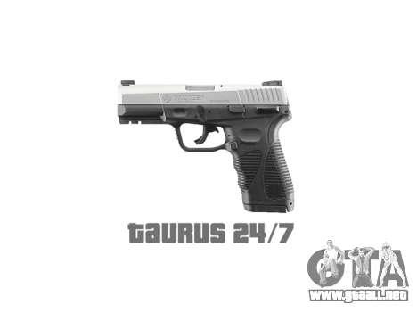 Pistola Taurus 24-7 titanio icon1 para GTA 4 tercera pantalla