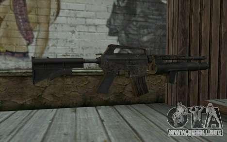CAR-15 with XM-148 from Battlefield: Vietnam para GTA San Andreas segunda pantalla
