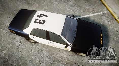 GTA V Vapid Cruiser LSS Black [ELS] Slicktop para GTA 4 visión correcta