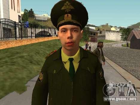 El Teniente Sokolov para GTA San Andreas segunda pantalla