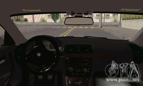 BMW 135i 2009 para GTA San Andreas vista posterior izquierda