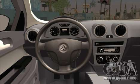 Volkswagen Saveiro Slammed para GTA San Andreas vista posterior izquierda