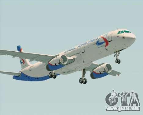 Airbus A321-200 Ural Airlines para GTA San Andreas vista hacia atrás
