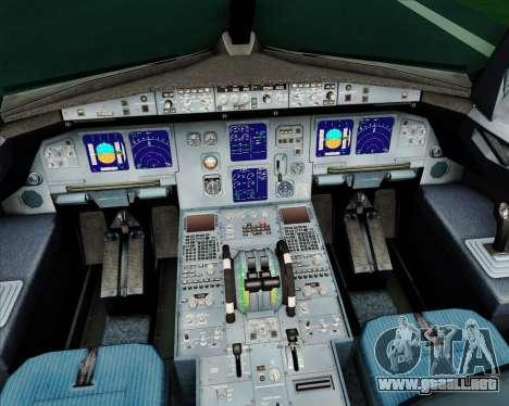 Airbus A321-200 Alitalia para GTA San Andreas interior