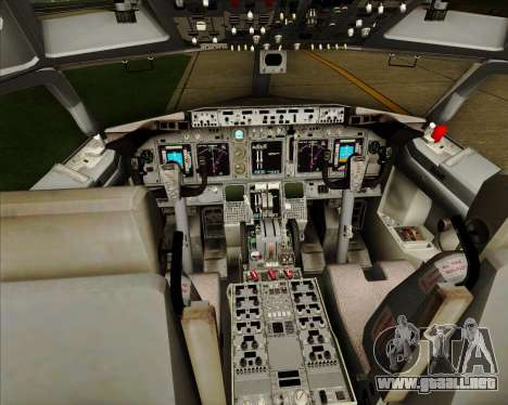 Boeing 737-838 Qantas (Old Colors) para GTA San Andreas interior