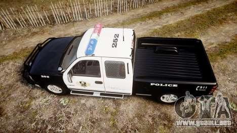 Chevrolet Silverado SWAT [ELS] para GTA 4 visión correcta