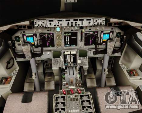 Boeing 737-824 United Airlines para GTA San Andreas interior