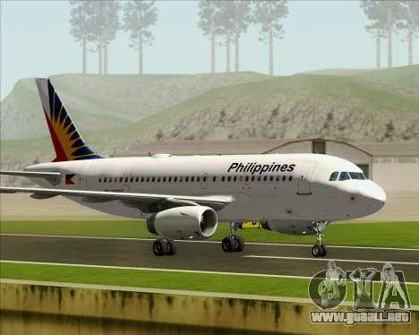 Airbus A319-112 Philippine Airlines para visión interna GTA San Andreas