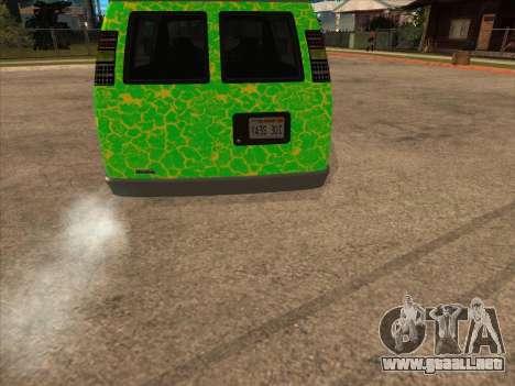 Bravado Paradise para GTA San Andreas vista posterior izquierda