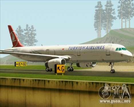 Airbus A321-200 Turkish Airlines para visión interna GTA San Andreas