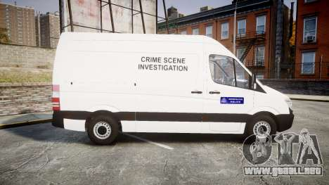 Mercedes-Benz Sprinter 311 cdi London Police para GTA 4 left