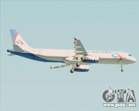 Airbus A321-200 Ural Airlines para la visión correcta GTA San Andreas