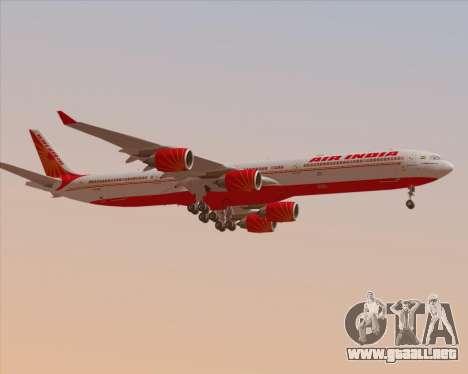 Airbus A340-600 Air India para las ruedas de GTA San Andreas