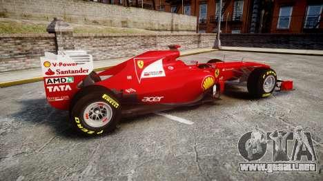 Ferrari 150 Italia Alonso para GTA 4 left