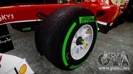 Ferrari F138 v2.0 [RIV] Massa TIW para GTA 4 vista hacia atrás