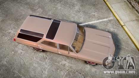Oldsmobile Vista Cruiser 1972 Rims1 Tree4 para GTA 4 visión correcta